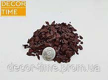 Декоративний кольоровий щебінь (крихта, гравій) , коричневий (10211)