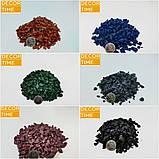 Декоративний кольоровий щебінь (крихта, гравій) , коричневий (10211), фото 3