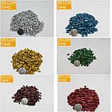Декоративний кольоровий щебінь (крихта, гравій) , коричневий (10211), фото 2