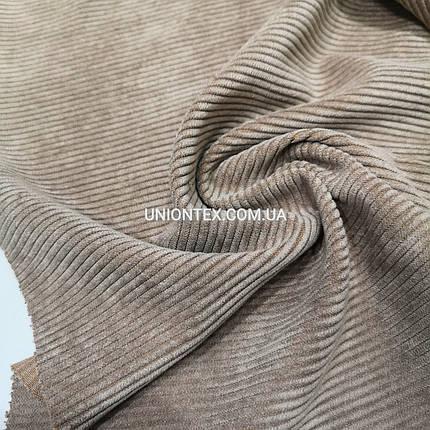 Ткань вельвет темно-бежевый, фото 2