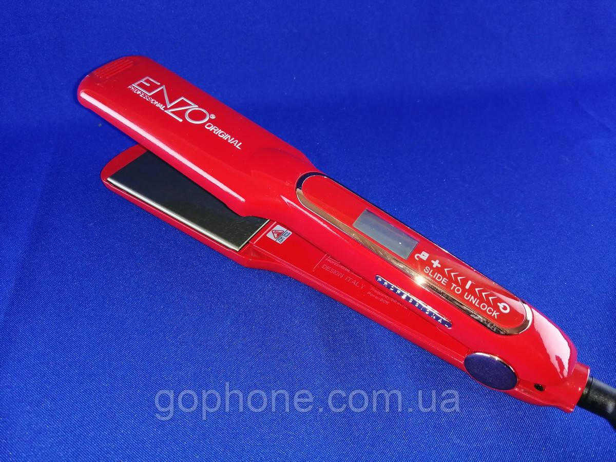 Керамический выпрямитель для волос Enzo EN-5444 с LED дисплеем и терморегулятором (красный)