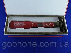 Керамический выпрямитель для волос Enzo EN-5444 с LED дисплеем и терморегулятором (красный), фото 3