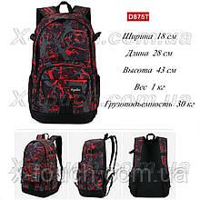 Молодіжний рюкзак, що не промокає Dingshixuan D875T, червоний.