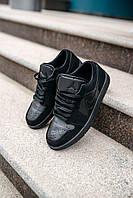 Кроссовки мужские весенние осенние качественные модные Найк Air JORDAN 1 Low Triple Black