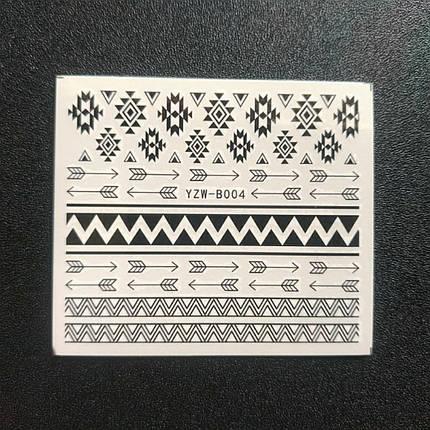 """Наклейка на ногти, наклейка для ногтей, ногтевой дизайн """"узоры"""" 20 шт набор, фото 2"""