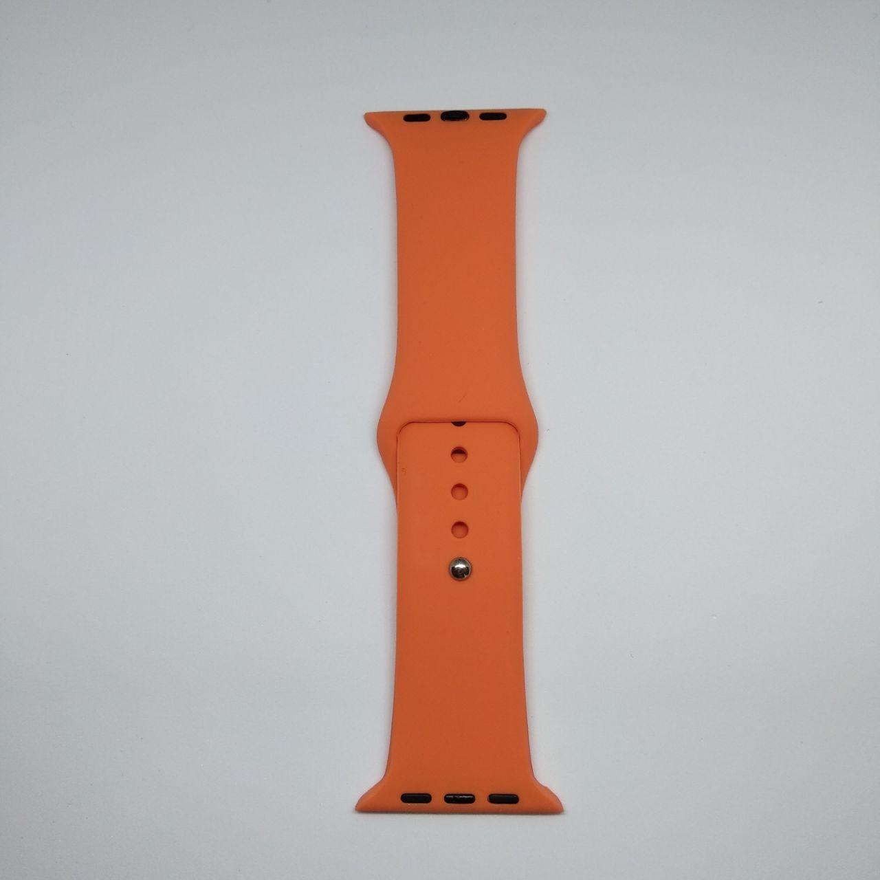 Ремінець ARM для Apple Watch 42mm S/M silicone Nectarine