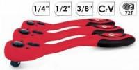 Рукоятка с храповым механизмом Intertool HT-2111 1/4'', Cr-v