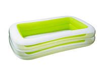 Детский надувной бассейн Intex 56483 (262х175х56 см.)Зеленый
