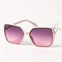Женские солнцезащитные квадратные очки  (арт. 338622/3) сиреневые, фото 1