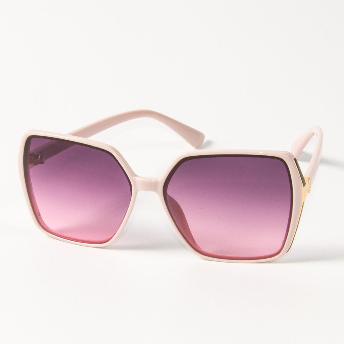 Оптом женские солнцезащитные квадратные очки  (арт. 338622/3) сиреневые