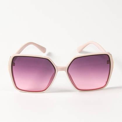 Оптом женские солнцезащитные квадратные очки  (арт. 338622/3) сиреневые, фото 2
