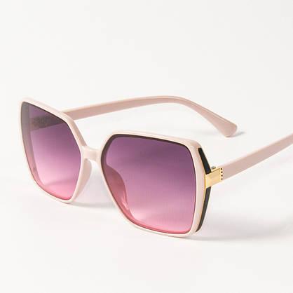 Оптом женские солнцезащитные квадратные очки  (арт. 338622/3) сиреневые, фото 3