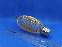 Кормушка  фидерная ПУЛЯ с вертлюгом 80 грамм (сетка пластик)