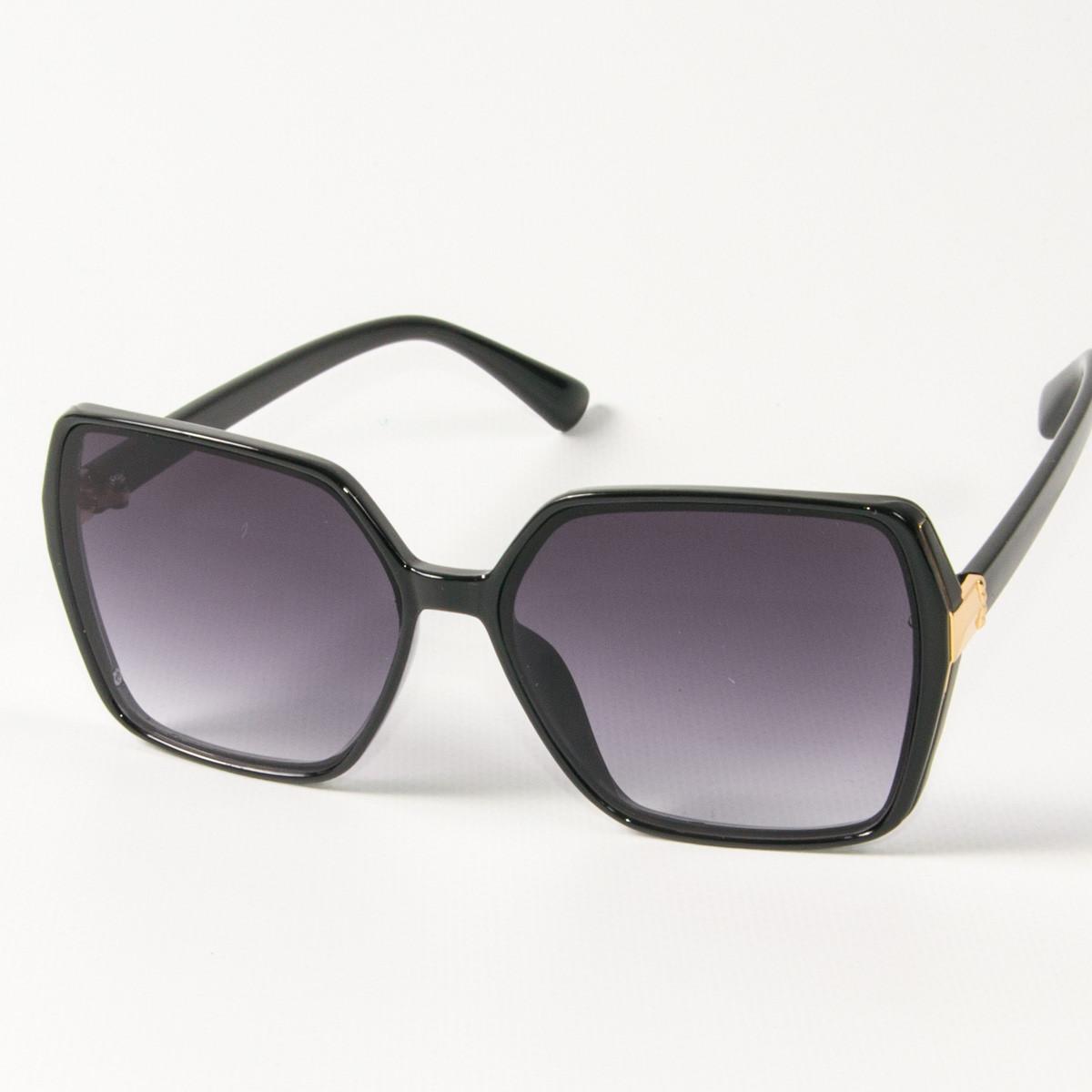 Оптом женские солнцезащитные квадратные очки  (арт. 338622/4) черные