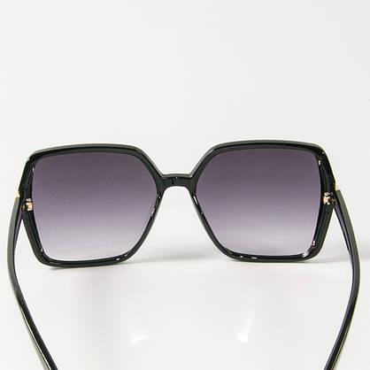 Оптом женские солнцезащитные квадратные очки  (арт. 338622/4) черные, фото 3