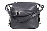 Женский рюкзак из натуральной кожи. Цвет: Серый, фото 1