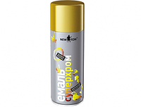 Эмаль аэрозольная суперхром золотой New Ton 400 мл. (Краска-спрей ньютон newton)