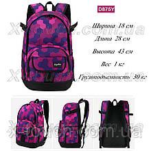 Молодежный рюкзак непромокаемый Dingshixuan D875Y, розовый.