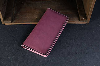 Кошелек клатч Лонг на 12 карт Кожа Итальянский краст цвет Бордо, фото 2
