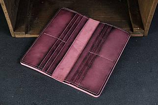 Кошелек клатч Лонг на 12 карт Кожа Итальянский краст цвет Бордо, фото 3