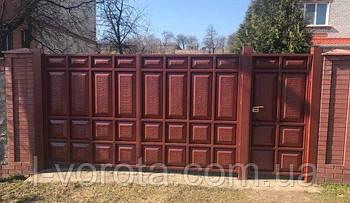 Филенчатые распашные ворота (асимметричные филенки)