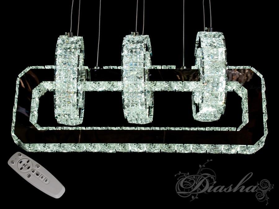 Хрустальная светодиодная люстра-подвес D6022