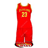 Баскетбольная форма Кливленд Кавальерс Джеймс №23 красная