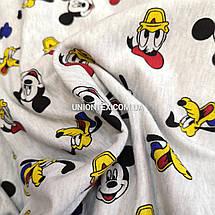 Футер двунитка принт Disney Микки, Дональд Дак, фото 3