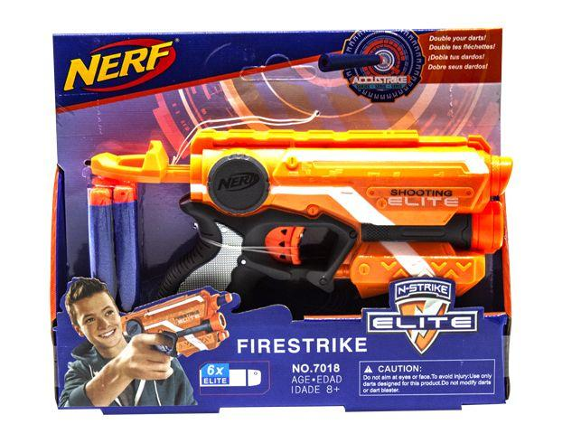 Бластер NERF: Firestrike оранжевый
