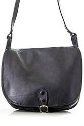 Женская кожаная почтальйонка-сумка TONIA Diva's Bag цвет черный