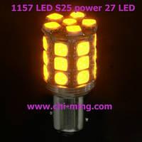 Светодиодная автолампа 1156-24-HP3 Yellow CHI MING (+ стабилизатор  тока)