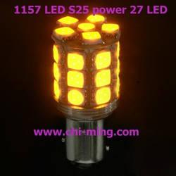 Светодиодная автолампа 1156(P21W)-S25-BA15s-24-HP3 Yellow CHI MING (+ стабилизатор  тока)