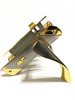 Врезной замок с ручками для межкомнатных дверей UNILOCK 58103 SN/GP