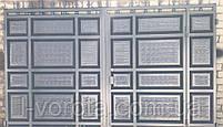Филенчатые ворота с врезной калиткой ш3100, в 2200 (с узким полем и асимметричными филенками), фото 2