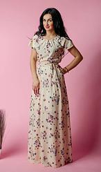 """Летнее длинное платье """"Маргарита"""" размеры двойные 44-46, 52-54"""