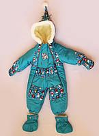 Детский зимний комбинезон (снеговик), фото 1