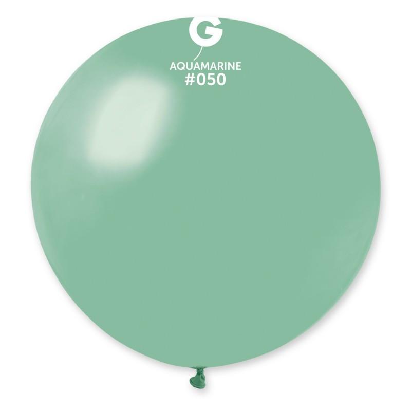 """Шар 31"""" (80 см) Gemar пастель 50 аквамарин (Джемар)"""