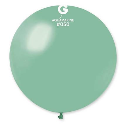 """Шар 31"""" (80 см) Gemar пастель 50 аквамарин (Джемар), фото 2"""