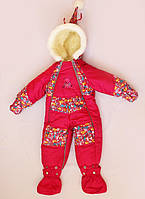 Детский зимний комбинезон (снеговик розовый), фото 1