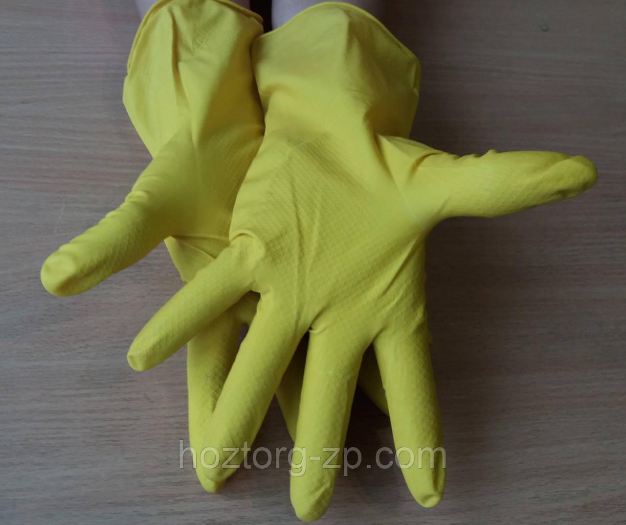 Перчатки латексные хозяйственные(10 пар)