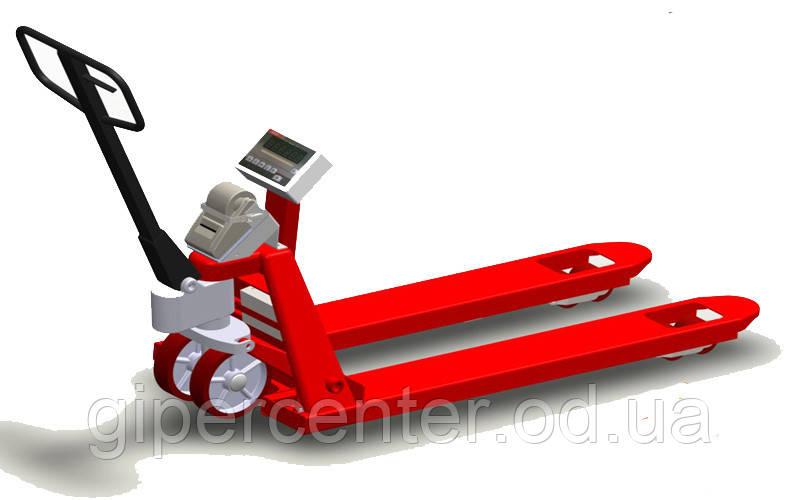 Рокла с весами с принтером самоклеющихся этикеток 4BDU1000P-В практичная 520x1200 мм, до 1000 кг