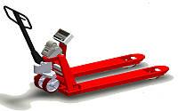 Рокла с весами с принтером самоклеющихся этикеток 4BDU1000P-В практичная 520x1200 мм, до 1000 кг, фото 1