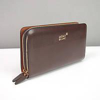 Клатч кожаный мужской коричневый MontBlanc 8106-4