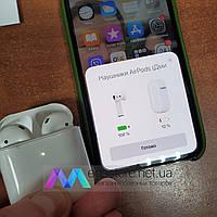 Беспроводные наушники AirPods 2 PopUp Touch sensor GPS Bluetooth 5.0 гарнитура с кейсом для подзарядки