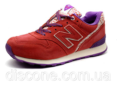Кроссовки New Balance 996 женские, нубук, розовые