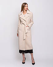 Жіноче демісезонне пальто з кашеміру з поясом великого розміру 50-54 р, фото 3