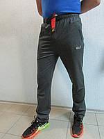 Мужские спортивные штаны Jack Wolfskin 8805 темно серые код 26б