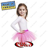 Юбка пачка из фатина детская для танцев и балета. Цвет розовый