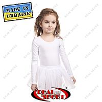 Юбка из фатина детская для танцев и гимнастики. Цвет белый