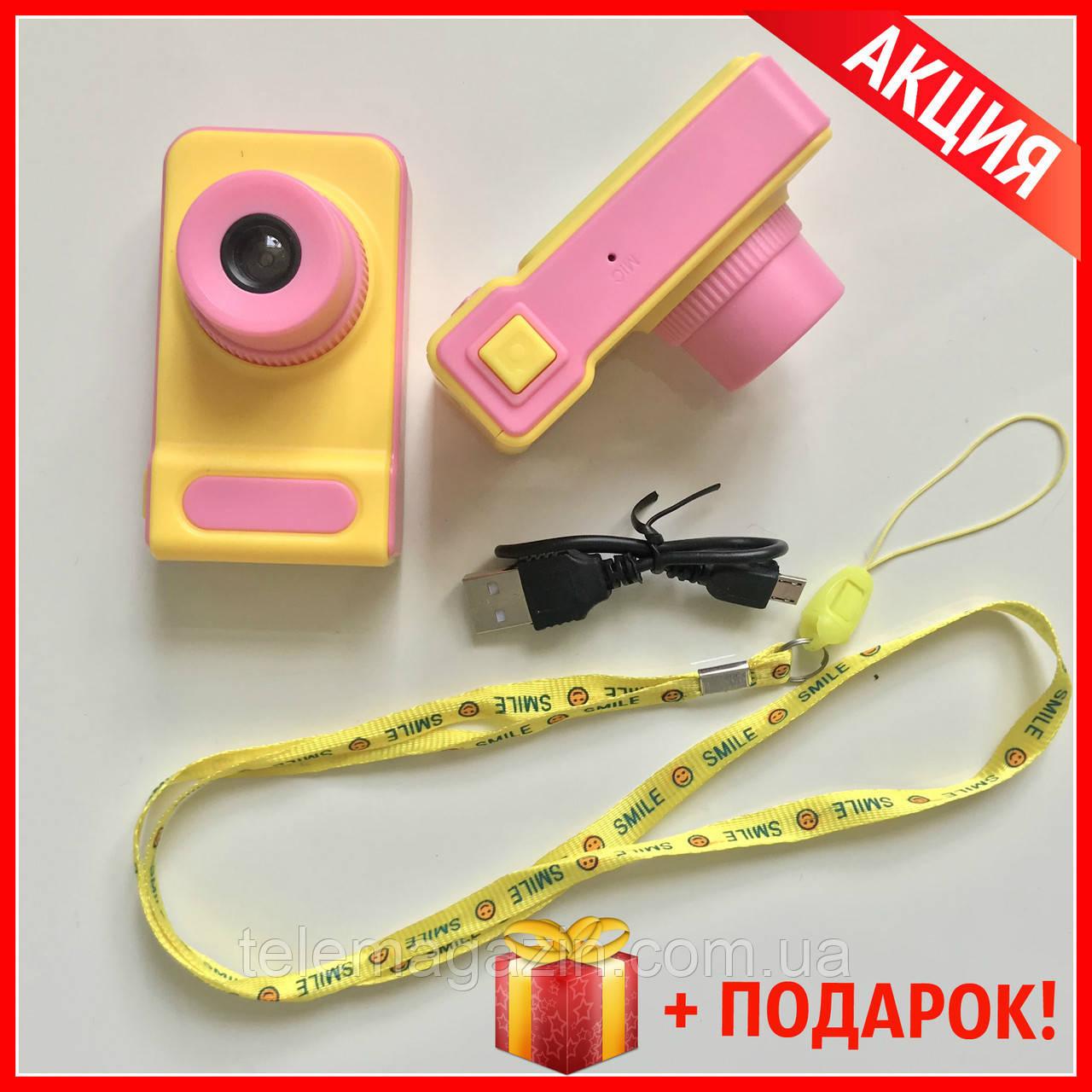 Детский Фотоаппарат с записью видео +цветной экран Dvr Baby Camera V7 РОЗОВЫЙ +ПОДАРОК!